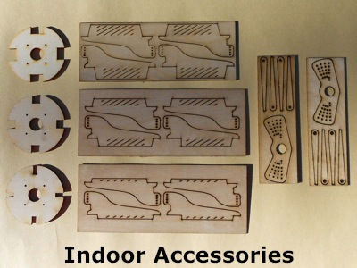 picture of indoor accessories, horns, firewalls and  									servo arms